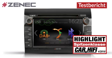 ZENEC Z-E3756 – Test Car & Hifi 04/2018